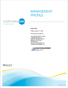 Everything Disc Management profile sample cover of report